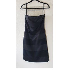 White House Black Market Dress Strip Two Tone Sz 6